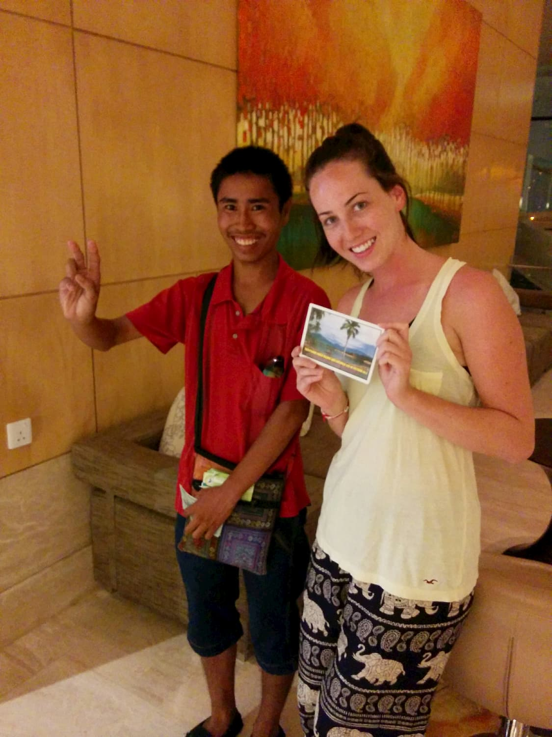 Cambodian Man GIVE BACK GLOBALLY
